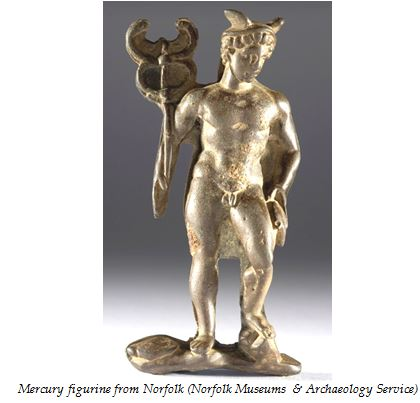 Mercury figurine from Norfolk (Norfolk Museums & Archaeology Service)